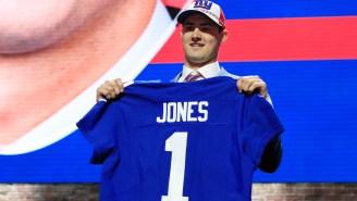Daniel Jones Reportedly Wasn't Going Higher Than Pick 30, Per Adam Schefter, Which Makes Giants Look So Dumb