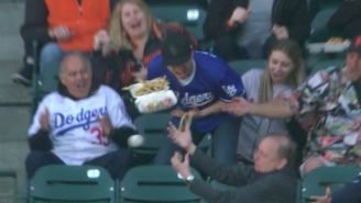 A Dodgers Fan Dropped Approximately $1 Million Worth Of Stadium Food Trying To Catch A Couple Of Foul Balls