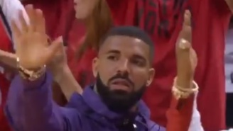 Drake Trolls Giannis Antetokounmpo And The Bucks By Waving Goodbye To Them After Raptors Win Game 3