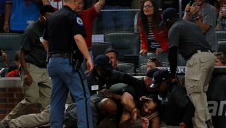 Fan Gets Absolutely Obliterated By Security Guard After Running Onto The Field At Braves Game