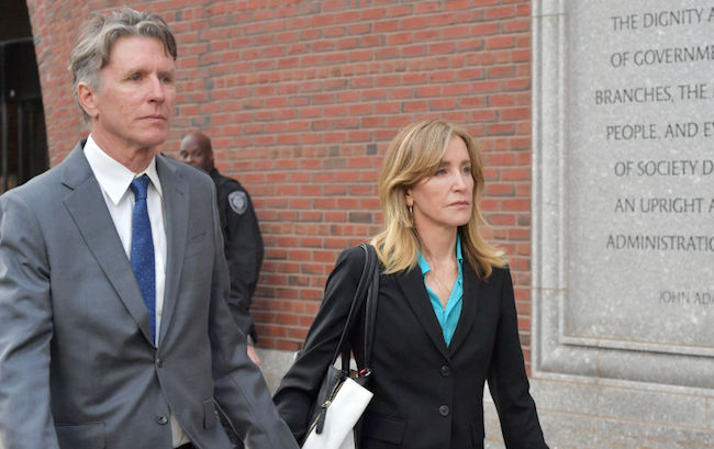 felicity huffman college admission scandal prison