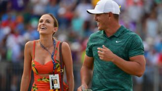 Brooks Koepka Denies Girlfriend Jena Sims Not Once But Twice And She Looked Super Salty About It
