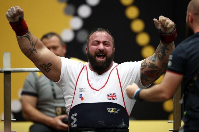 Martin Tye Strongman Seated Deadlift World Record Invictus Games