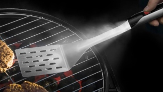 The Brilliant Grillight LED Spatula Has A Built-In Flashlight On The Handle So You Can Easily Grill At Night