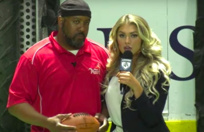 Lingerie Football League reporter heidi golznig savagely calls out a head coach for his team's awful strategy during blowout