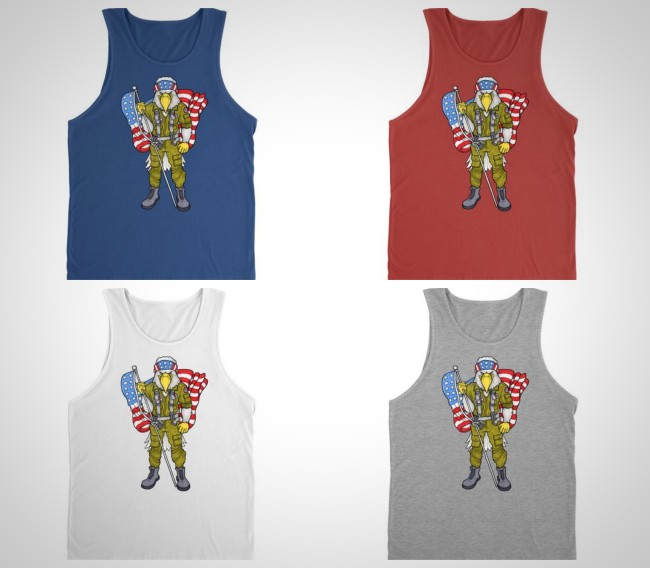 highly clutch 'merican eagle tank top