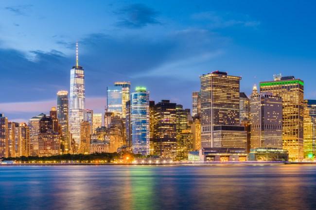 Lower Manhattan NYC skyline