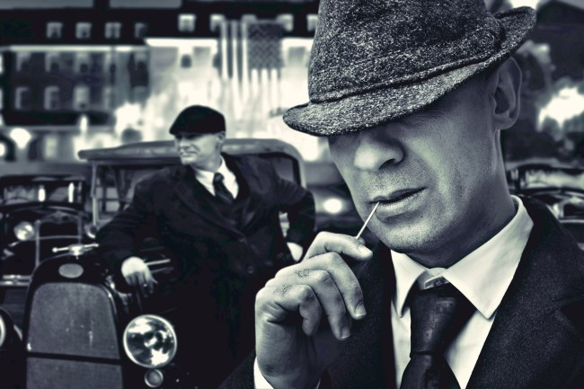 vintage mafia mobster gangster