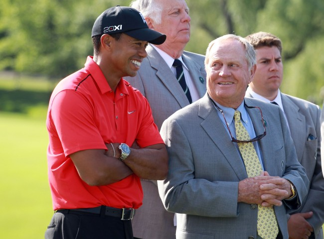 """Jack Nicklaus says he thinks his major championship record will """"probably"""" be broken by Tiger Woods."""