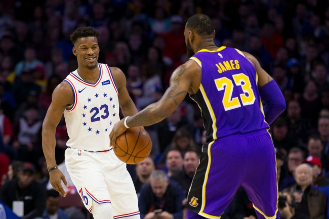 Jimmy Butler is reportedly interested in signing with the Los Angeles Lakers as rumors about LeBron James recruiting him continue