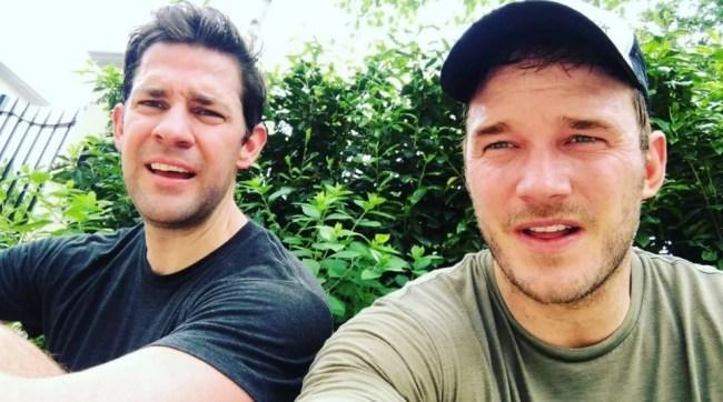 John Krasinski and Chris Pratt encourage Americans to do the Murph Challenge for Memorial Day 2019 to honor fallen veterans.