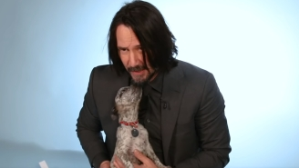 Keanu Reeves Plays With Puppies While Revealing The Superhero He'd Most Want To Play And Craziest 'John Wick' Stunt