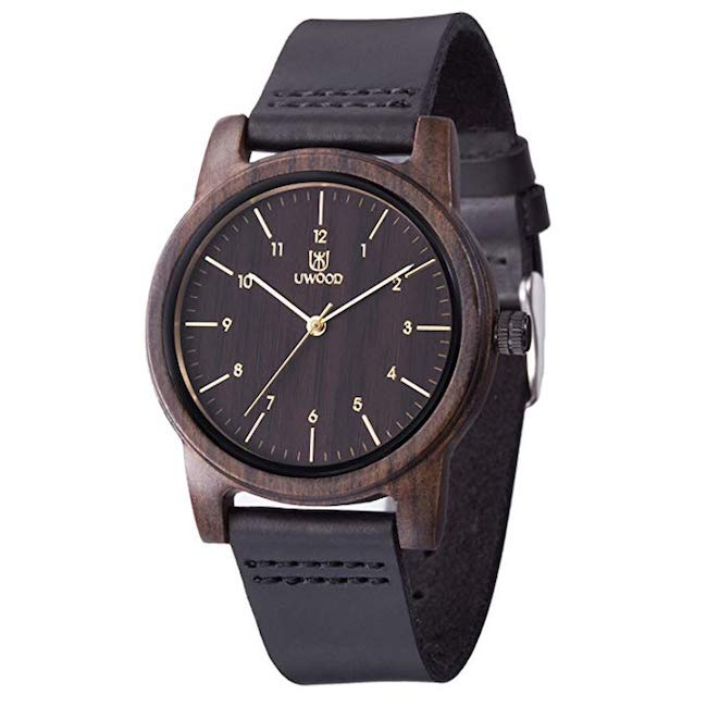 Leather Band Wooden Watch from Mujuze