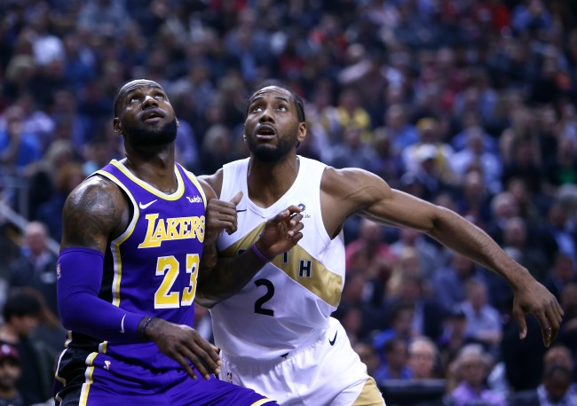 Reports say that LeBron James visited Kawhi Leonard to pitch him on joining the Los Angeles Lakes this summer