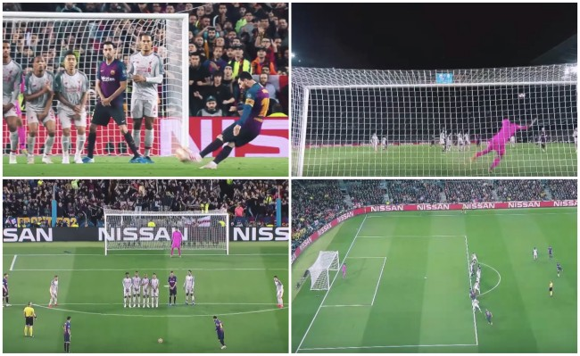 every angle Lionel Messi 600th career goal Barcelona