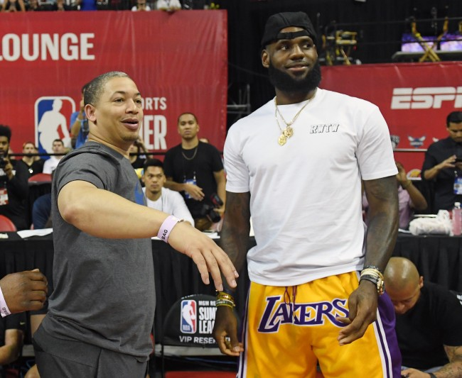 The Los Angeles Lakers may hire Tyronn Lue because he talked about his love for the franchise in his interview.