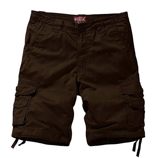men's brown cargo shorts