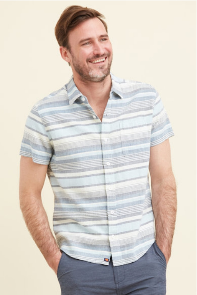 Normal Brand Freshwater Stripe Button Down from South Moon Under