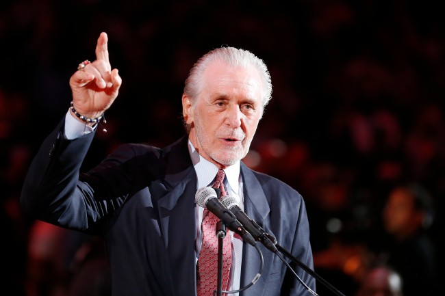 Pat Riley says he's thought about a return to the Los Angeles Lakers, but nobody from the franchise has ever reached out.