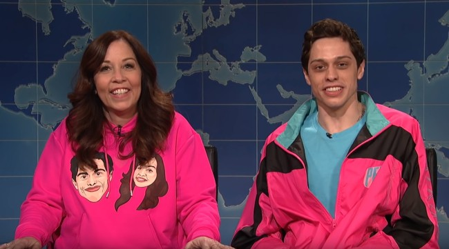 Pete Davidson talks about living with his mom in the same house on SNL