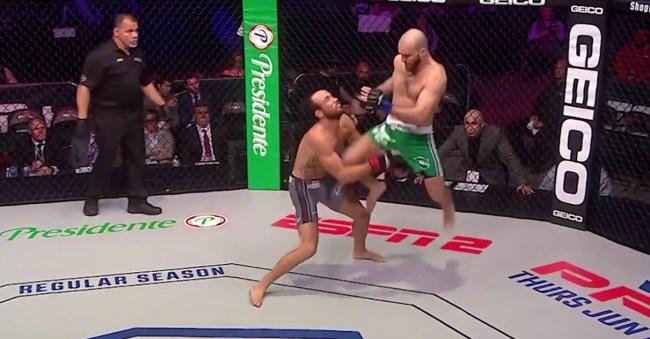 PFL Movlid Khaybulaev Knocks Out Damon Jackson With A Flying-Knee