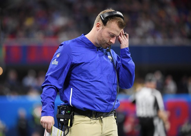 Sean McVay of the Los Angeles Rams blames overpreparing for the loss to New England Patriots in Super Bowl LIII