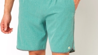 For The Perfect Land-Water Short This Summer, Snag Yourselves The Suori Banks Aloe Linen Texture Short