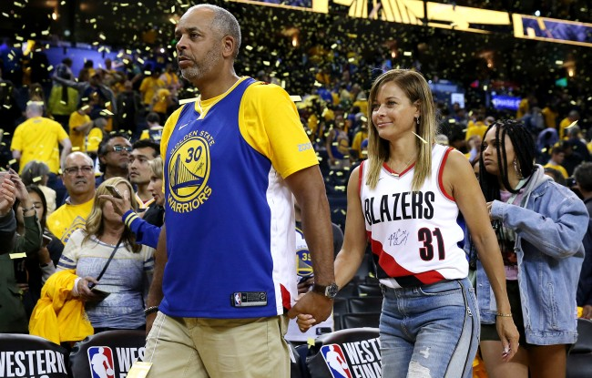 Steph Curry On His Mom Cheering For Him While Wearing Blazers Gear