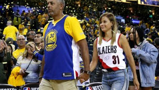 Steph Curry Had An A+ Reaction To Seeing His Mom Cheering For Him While Wearing Blazers Gear