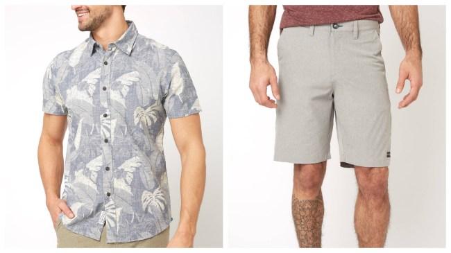 South moon under shirt and shorts