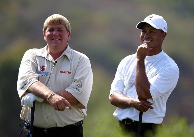 tiger woods john daly golf cart response