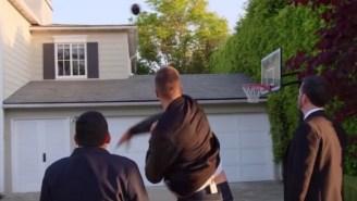 Tom Brady And Jimmy Kimmel Show Up And Throw Sh*t Through Matt Damon's House Windows In The Latest Prank War