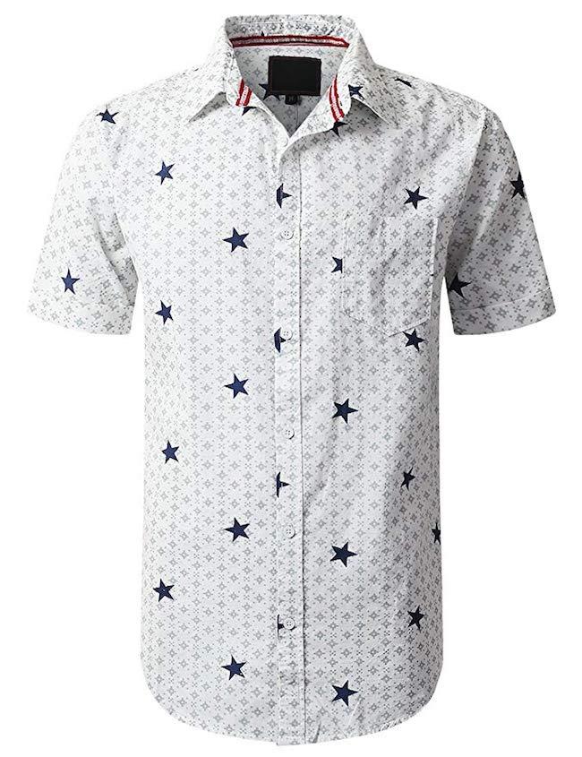 UrbanCrews Men's Graphic Short Sleeve Shirt