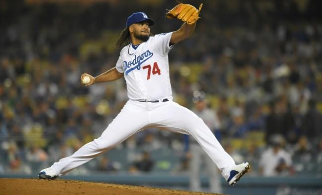 A Diamondbacks Fan Mooned Dodgers Closer Kenley Jansen During A Pitch