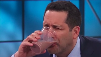 Adam Schefter's Chugging Skills Make Aaron Rodgers Look Like An Absolute Pro