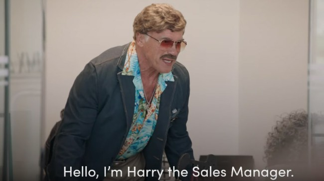 Arnold Schwarzenegger Undercover Disguised As A Used Car Salesman