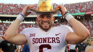 Baker Mayfield's Taking Shots At College QB Sam Ehlinger For Some Reason, And I F'in Love It