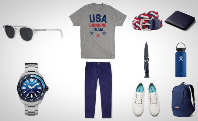 best everyday carry gear red white blue