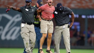 Braves Security Demolished Another Fan Who Was Foolish Enough To Run Onto The Field In Atlanta