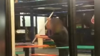 Florida Burger King Employee Caught On Video Cleaning Tables With A Mop