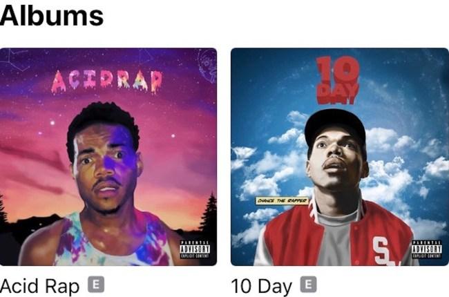 chance the rapper albums