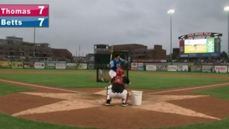 How Awesome Is This Monumental Bat Flip By Rays Prospect Chris Betts After Winning Home Run Derby?