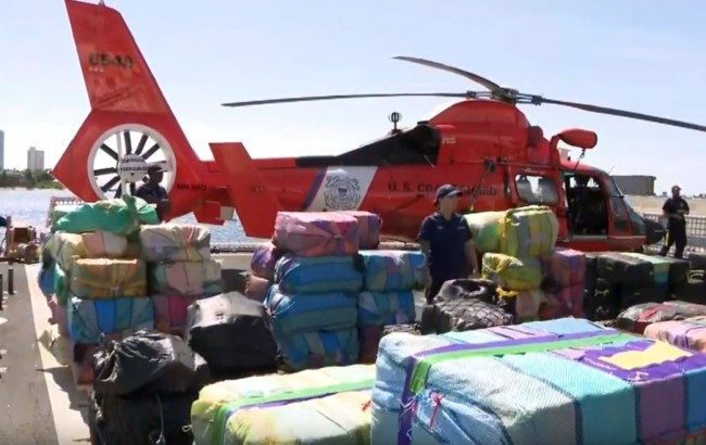 US Coast Guard makes historic drug bust worth $350 million and unloaded the cocaine and marijuana in Florida.
