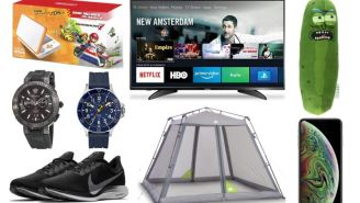 Daily Deals: iPhones, Versace Watches, Pickle Rick, 70% Off Express, Timex Sale, Columbia Clearance And More!