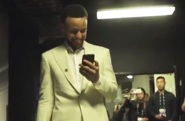 drake steph curry facetime nba finals