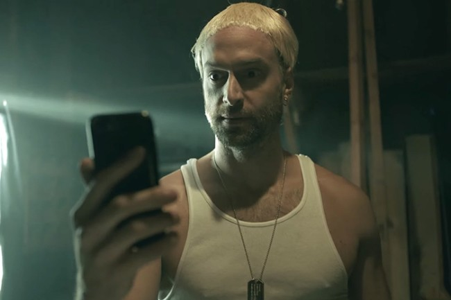"""Logic and Eminem recruit Chris D'Elia and Squints from The Sandlot as stunt doubles in the music video for """"Homicide,"""" the rappers' collaboration from Logic's recent album Confessions of a Dangerous Mind."""