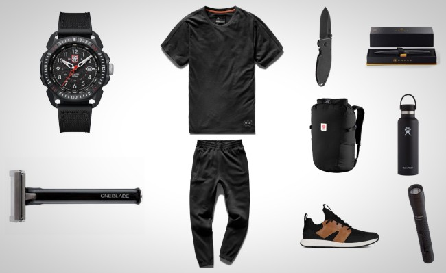 everyday carry essentials all black blacked out edc