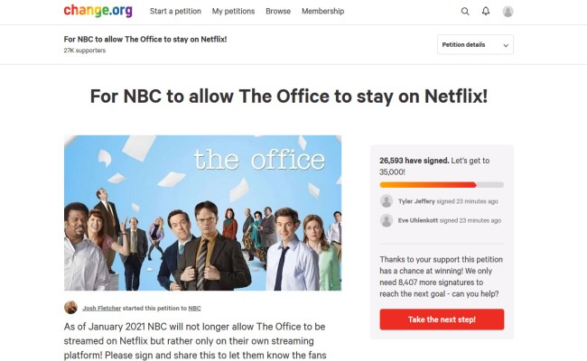 Fans Of The Office Started Petition To Keep The Show On Netflix