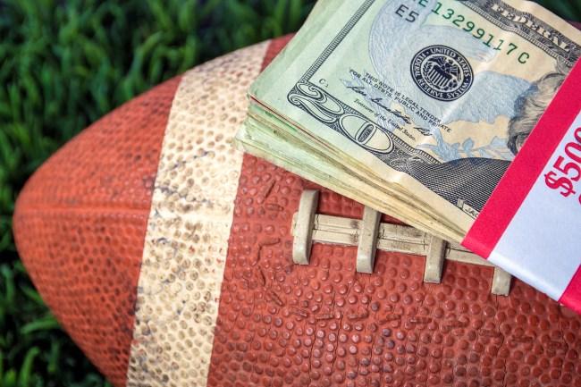 gambling sports money on football