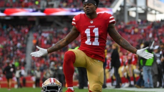 Alvin Kamara Gets Smoked By Robby Anderson, Niners' Marquise Goodwin Wins Inaugural $1 Million '40 Yards Of Gold' Race And Is Dubbed 'Pro Football's Fastest Man'
